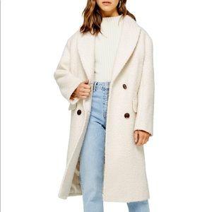 NWT Topshop Petite Boucle Coat